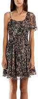 Charlotte Ronson Ruffle Dress in Evergreen Multi