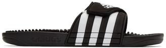 adidas Black and White Adissage Sandals