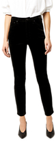 Warehouse High Rise Velvet Skinny Jeans