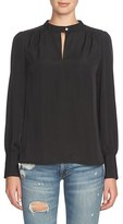 1 STATE 1.State Blouson Sleeve Crepe Blouse