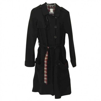 Sonia Rykiel Black Cotton Trench Coat for Women