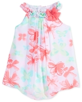 First Impressions Butterfly-Print Chiffon Bubble Romper, Baby Girls (0-24 months)