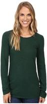 Mod-o-doc Slub Jersey Long Sleeve Twisted Scoopneck Tee Women's T Shirt