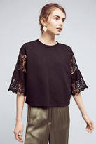Eri + Ali Cropped Lace Sweatshirt