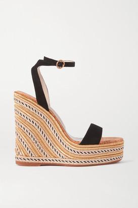 Sophia Webster Lucita Suede Espadrille Wedge Sandals