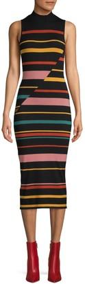 BCBGMAXAZRIA Striped Mini Sweater Dress