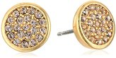 "lonna & lilly Classics"" Gold-Tone/Silk Disc Stud Earrings"