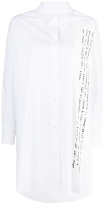 MM6 MAISON MARGIELA Slogan-Print Shirt Dress