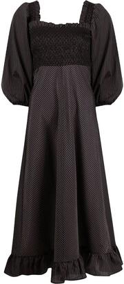 Ganni Smock Mid-Length Dress