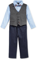 Nautica Baby Boys' 4-Pc. Shirt, Herringbone Vest, Pants & Bowtie Set