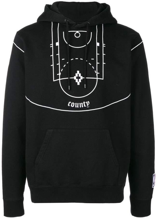 Marcelo Burlon County of Milan basketball court print hoodie