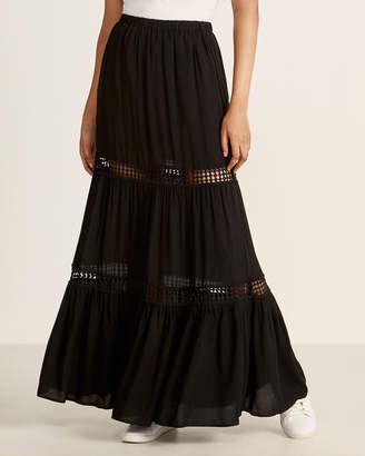 BB Dakota Black Always Right Maxi Skirt