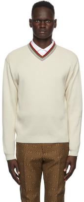 Gucci Off-White V-Neck Sweater