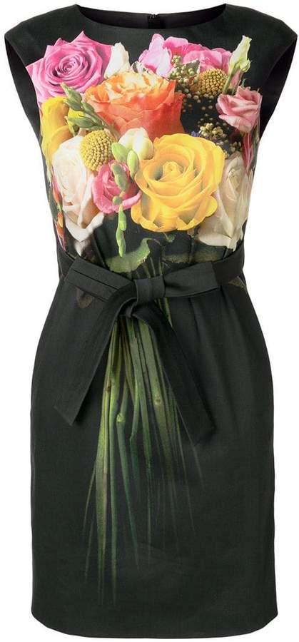 Moschino tie waist floral dress