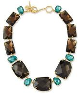 Tory Burch Two-Tone Crystal Statement Necklace