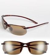 Maui Jim Men's 'Banyans - Polarizedplus2' 67Mm Sunglasses - Gloss Black / Neutral Grey
