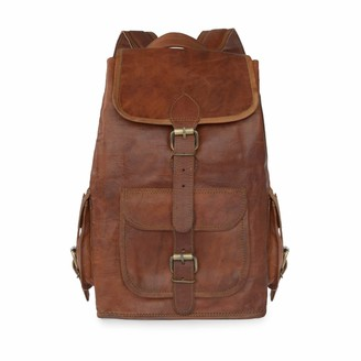 Vida Vida Vida Vintage Classic Leather Backpack - Large