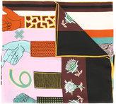 Valentino Garavani counting print scarf