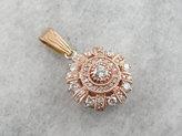 Etsy Modern Rose Gold One of a Kind Diamond Pendant LKYQL4-R