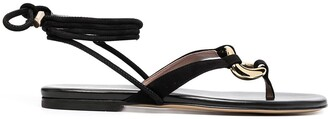 Gia Couture Levante flat sandals