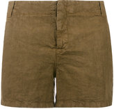 Aspesi flap pocket shorts - women - Linen/Flax - 40