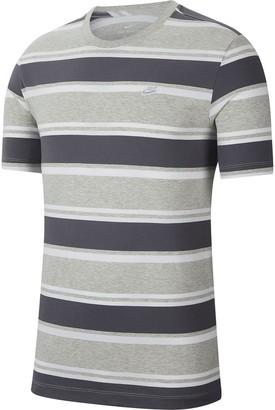 Nike Stripe Tee - Grey/White