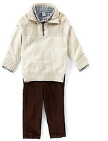 Class Club Little Boys 2T-7 Mock-Neck Sweater, Button-Down Shirt, & Pants 3-Piece Set