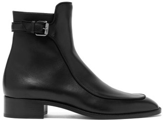 Christian Louboutin Ecritoir Leather Ankle Boots - Black
