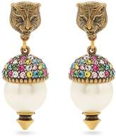 Gucci Feline pearl-effect embellished earrings