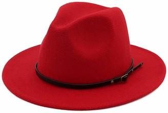 DRESHOW Women Wide Brim Straw Panama Roll up Hat Fedora Beach Sun Hat UPF 50+