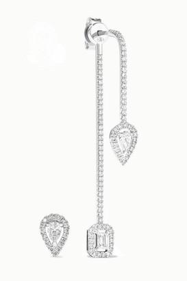 Messika My Twin 18-karat White Gold Diamond Earrings - one size