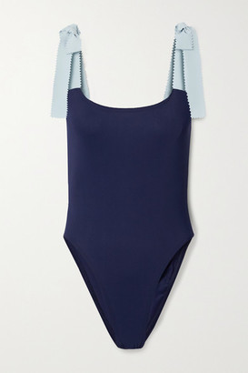 Karla Colletto Giselle Two-tone Swimsuit - Navy