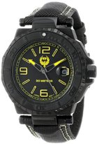 Brillier Men's 25-01 Hype 44mm Black PVD Plated Stainless Steel Date Function Watch