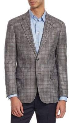 Emporio Armani G Line Checked Wool Jacket