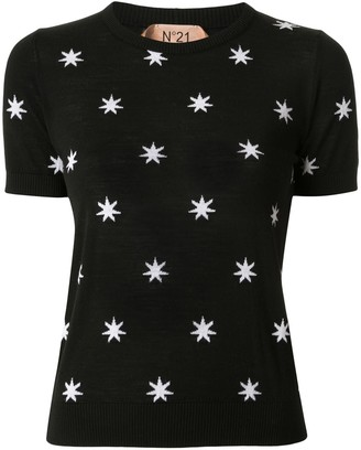No.21 Star Print Knitted Top
