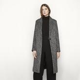 Maje Long leopard print coat