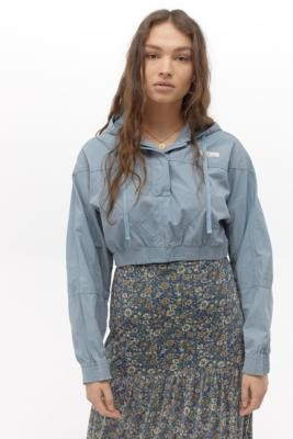 BDG Super Crop Poplin Jacket - Blue XS at Urban Outfitters