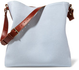 Lanvin New Hobo Leather-trimmed Cotton-canvas Tote - Sky blue