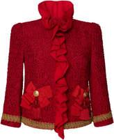 Dolce & Gabbana Ruffle-Trimmed Tweed Jacket