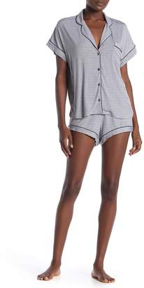 UGG Amelia Mini Stripe Short Sleeve Top & Shorts Pajama 2-Piece Set