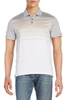 Calvin Klein Slim-Fit Striped Colorblock Polo Shirt