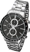 Sekonda 1375.27 Date Chronograph Bracelet Strap Watch, Silver/black