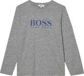 BOSS Logo print cotton long-sleeved top 4-16 years