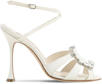 Manolo Blahnik 105MM TICUNA CREPE DE CHINE SANDALS