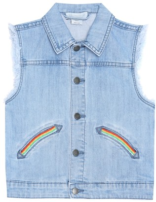 Stella McCartney Kids Embroidered denim vest