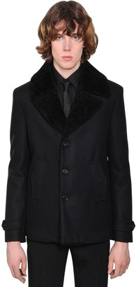 Saint Laurent WOOL & SHEARLING COAT
