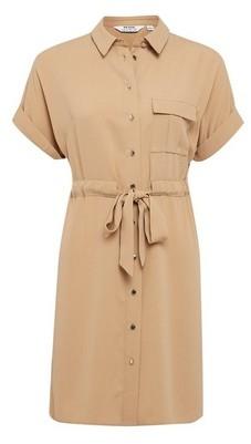 Dorothy Perkins Womens Dp Petite Camel Utility Shirt Dress