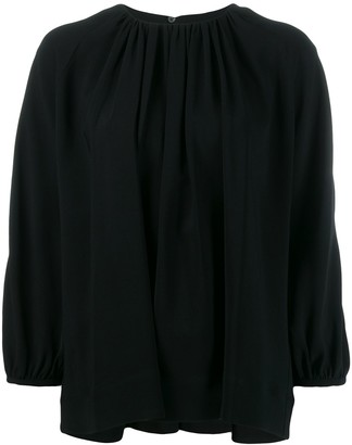 Rochas Pleated Long Sleeved Top