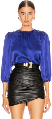 Icons Objects Of Devotion Objects of Devotion Femme Blouse in Indigo | FWRD