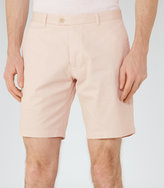 Reiss Reiss Wicker - Tailored Cotton Shorts In Pink, Mens
